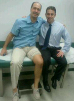Eric J Strauss MD with the Patient